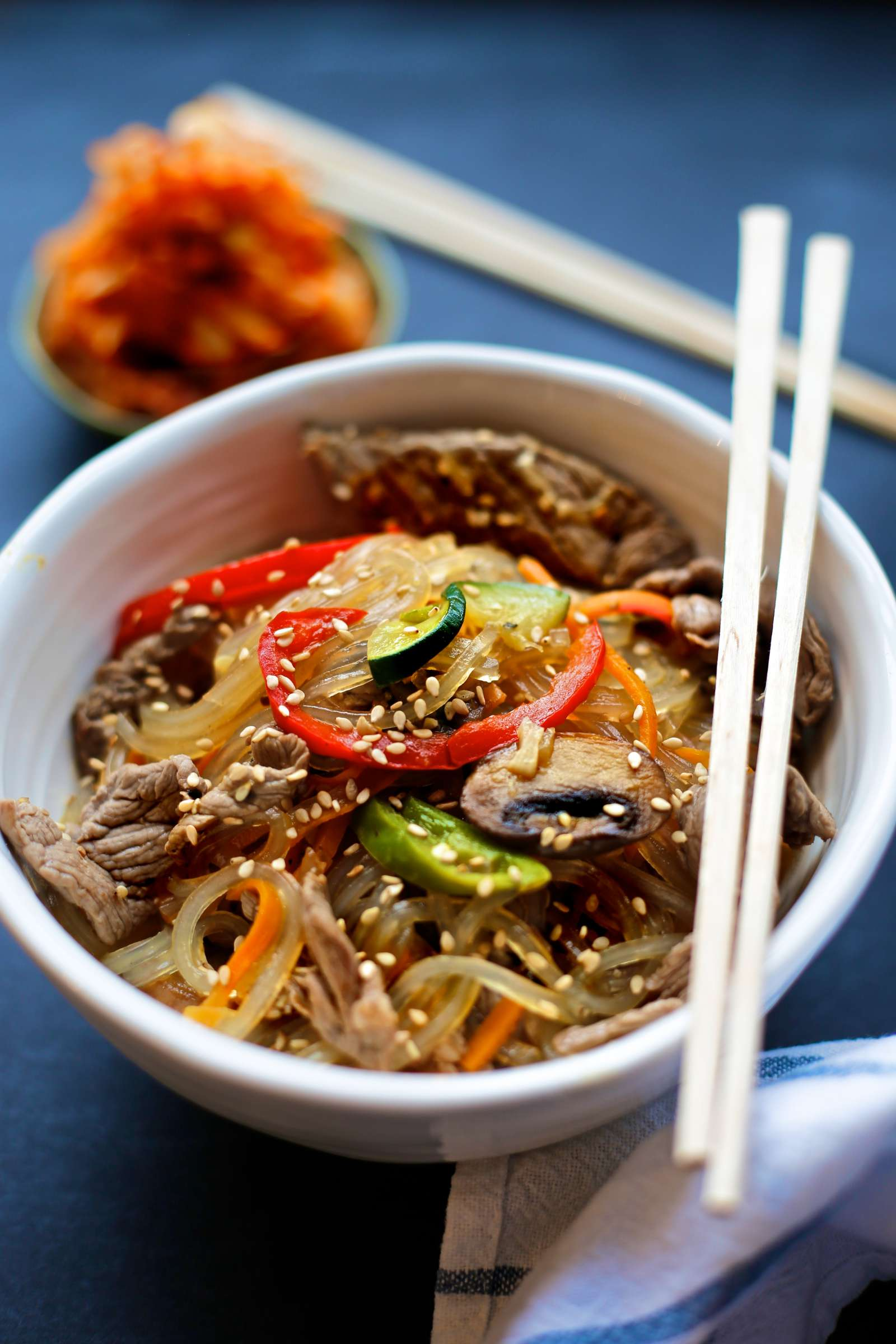 Paleo Japchae – Korean Sweet Potato Noodles