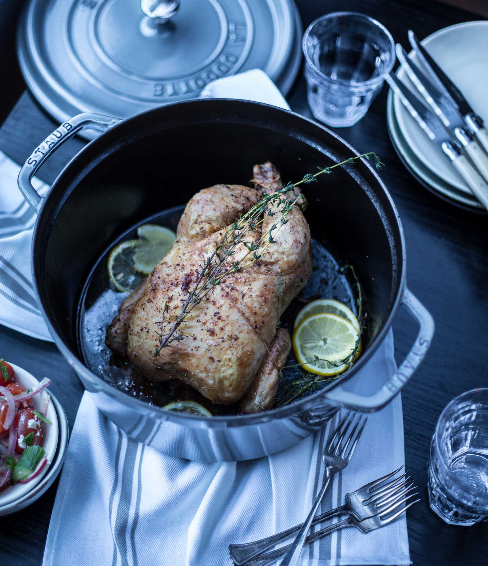 Lemon, Thyme & Garlic Roast Chicken