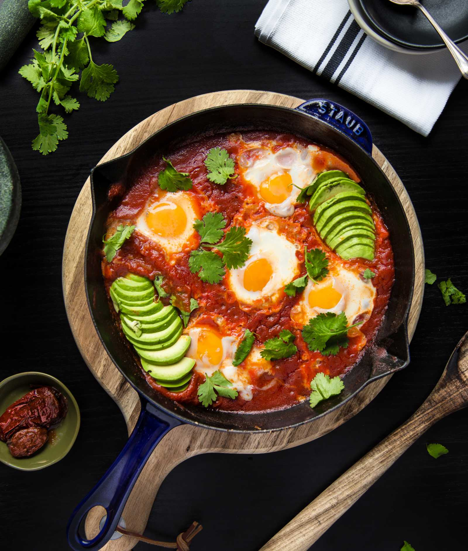 Southwest Shakshuka with Chipotle & Cilantro