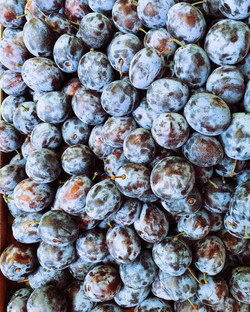 Plums at the farmer's market, Brasov.