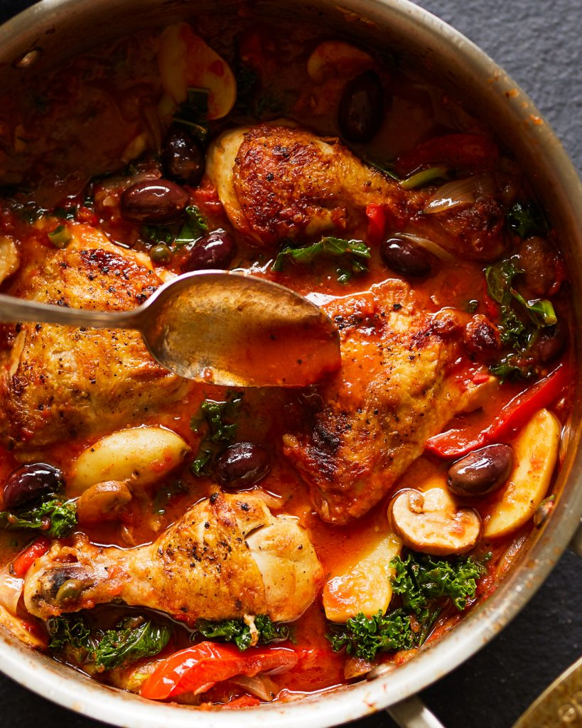 Whole30 Chicken Cacciatore Kale Potatoes Primal Gourmet Easy Dinner