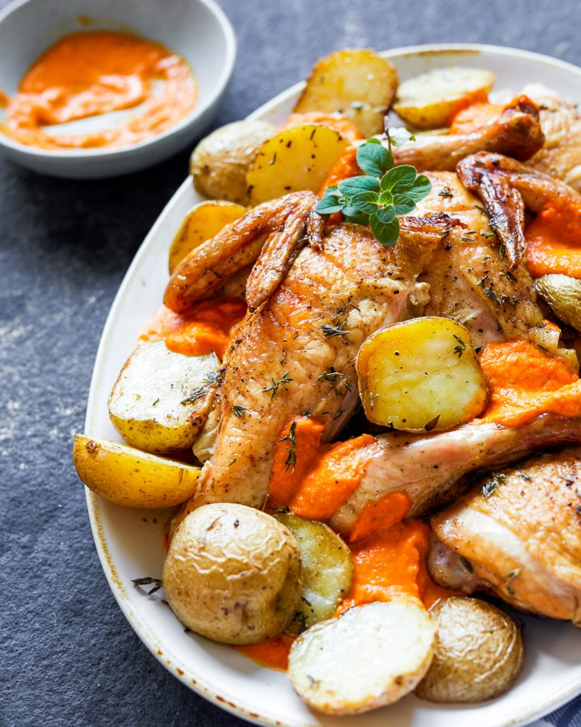 Whole30 Grilled Chicken Romesco Paleo Primal Gourmet Easy Dinner Idea