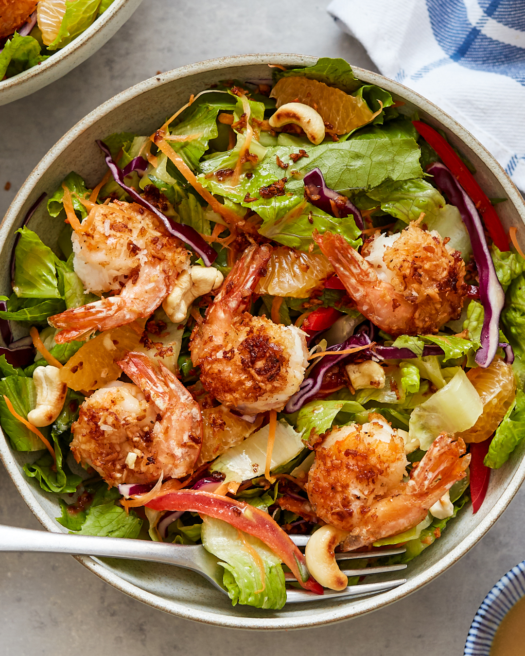 Coconut Shrimp Salad Sesame-Ginger Vinaigrette Paleo Primal Gourmet Easy Recipe