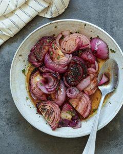 Grilled Onions Marinated Balsamic Vinegar Oregano Whole30 Primal Gourmet Paleo Recipe BBQ