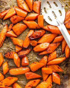 Maple Sesame Roast Carrots Paleo Primal Gourmet Whole30 Recipe Easy