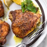 Pan-Roasted, Shwarma-Spiced Chicken Thighs – Whole30, Paleo