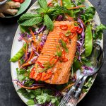 Asian Rainbow Trout Slaw – Whole30