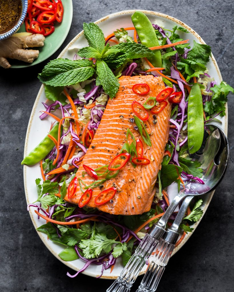 Asian Rainbow Trout Slaw