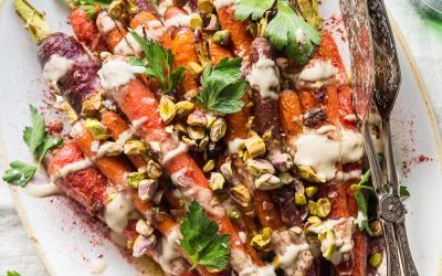 Harissa-Honey Roasted Carrots