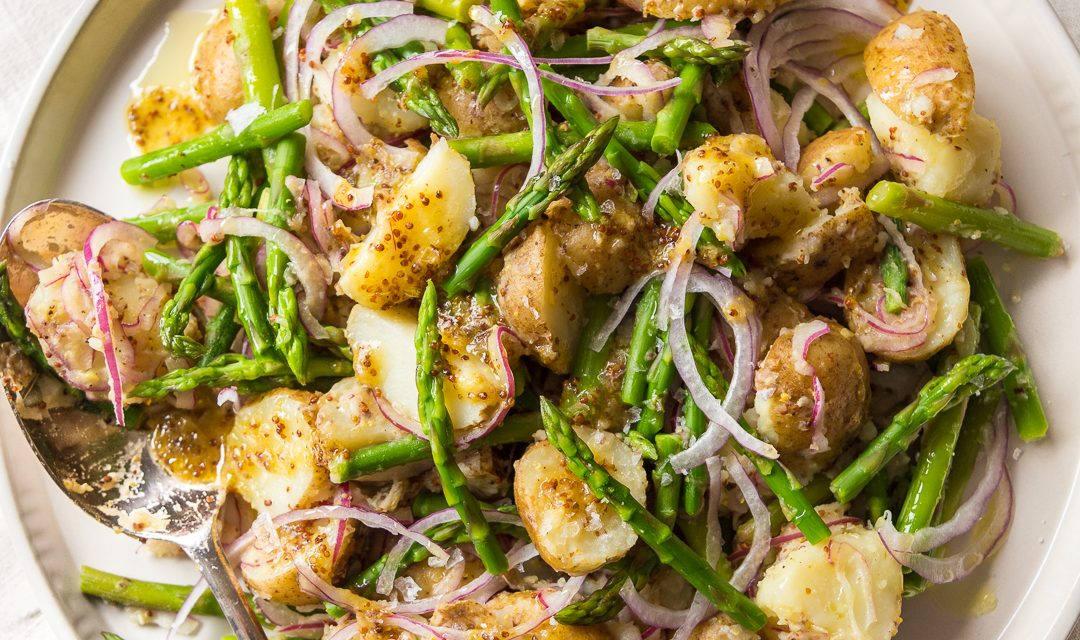 German Warm Potato and Asparagus Salad