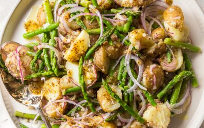 German Warm Potato and Asparagus Salad