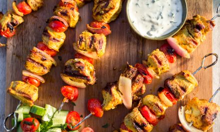 Whole30 Spiced Chicken Skewers