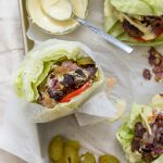 Whole30 Elk Burgers with Caramelized Onions and Dijonnaise