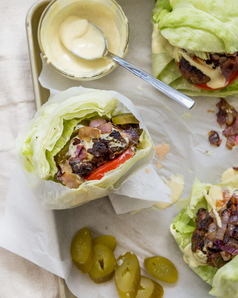 Whole30 Game Burger Caramelized Onions Dijonnaise Paleo Primal Gourmet Easy Grilling Recipe