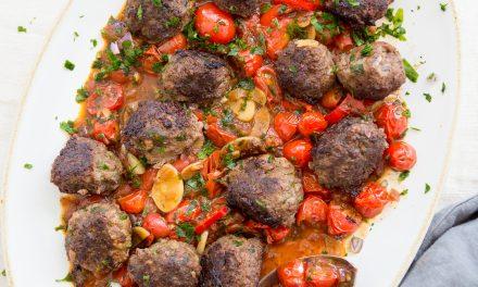 Spanish Meatballs with Cherry Tomato Sauce – Whole30