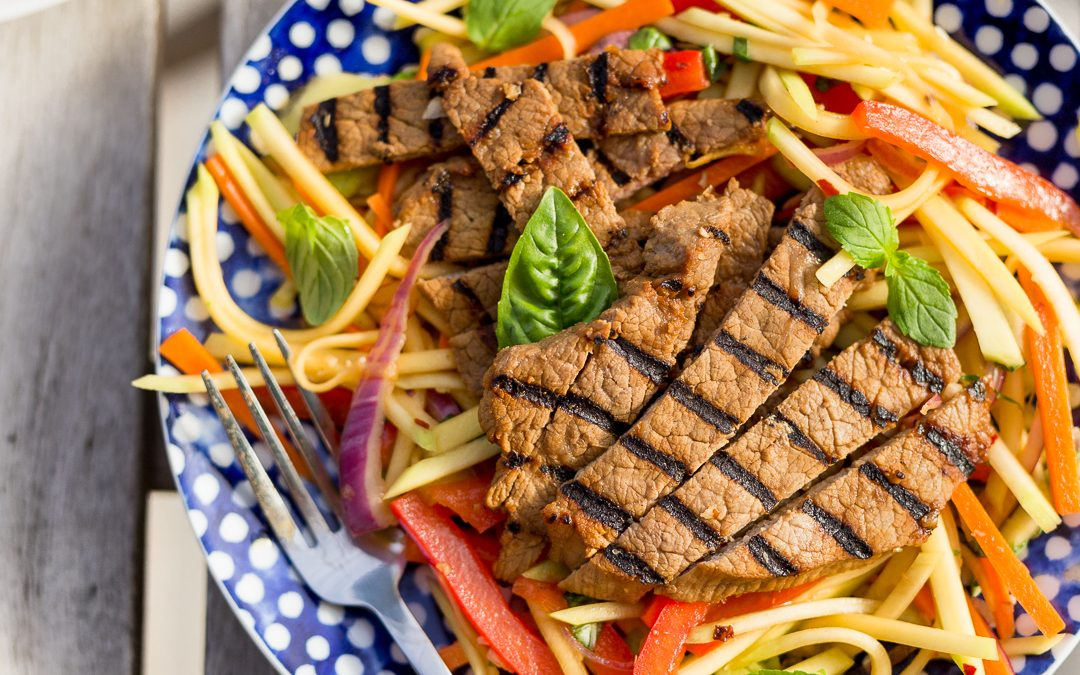 Thai Grilled Beef with Green Mango Salad