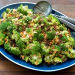 Whole30 Asian Broccoli Salad with Crispy Shallots
