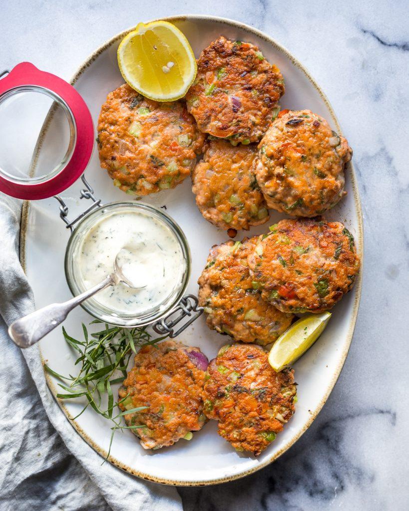 Salmon Cakes With Tarragon Aioli Whole30 Paleo Primal Gourmet