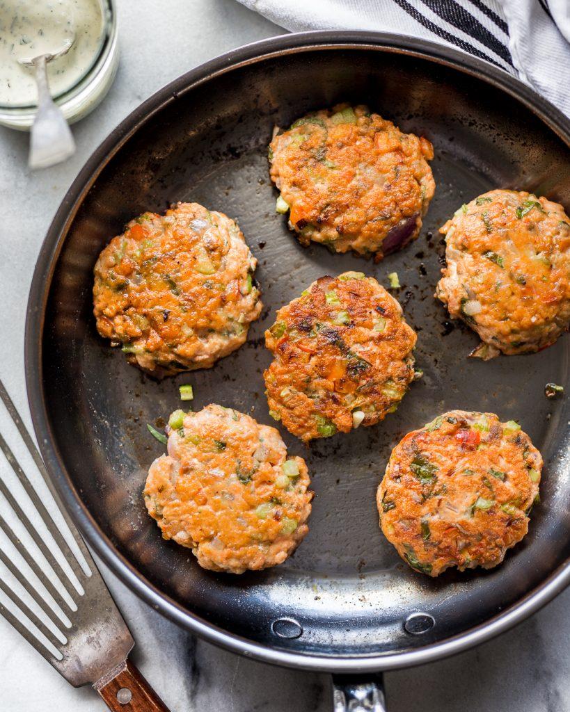 Easy Salmon Cakes Whole30 Paleo Primal Gourmet Recipe