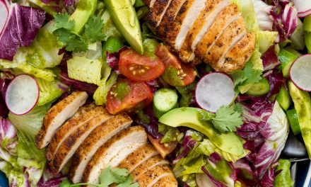 Whole30 Summer Chicken Salad with Cilantro Vinaigrette
