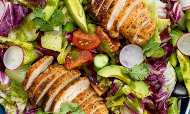 Whole30 Summer Chicken Salad with Cilantro Vinaigrette