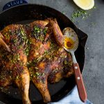Cajun Roast Chicken with Lemon-Chive Butter – Whole30