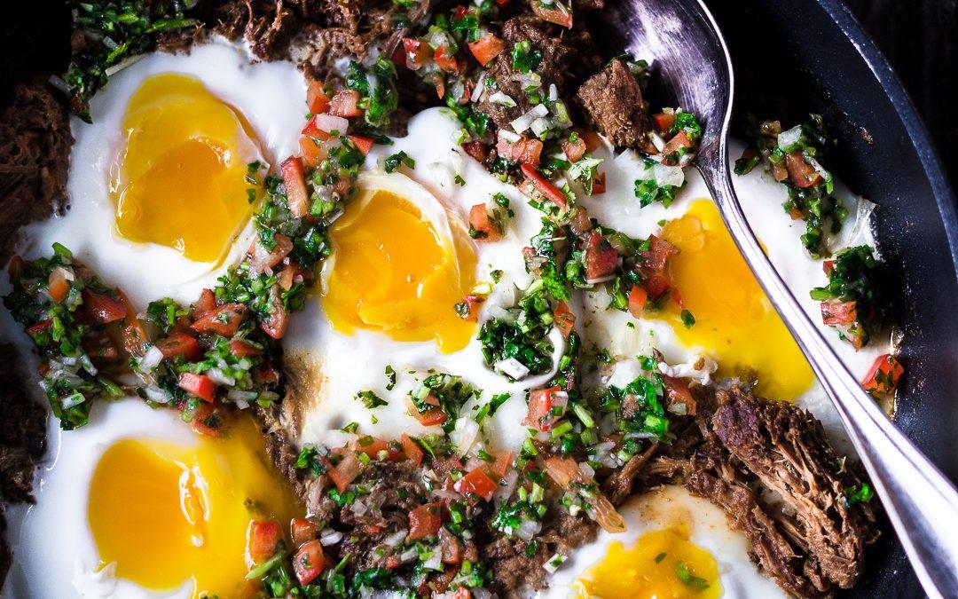 Braised Beef Breakfast Skillet w/ Pico de Gallo
