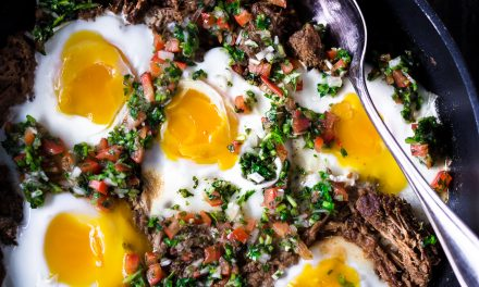 Braised Beef Breakfast Skillet w/ Pico de Gallo