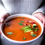 Paleo Roasted Red Pepper and Sausage Soup