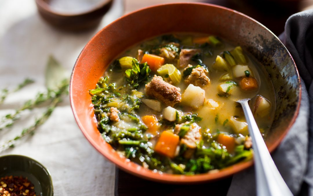 Sausage, Potato and Kale Soup – Whole30