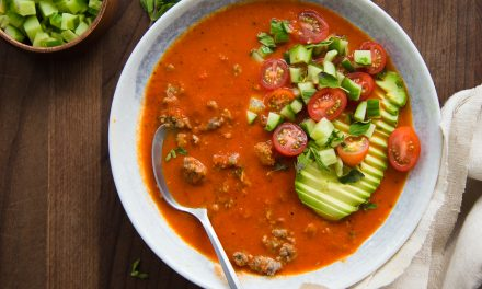 Roasted Red Pepper and Sausage Soup – Whole30, Paleo