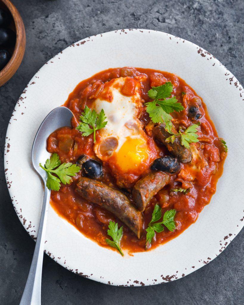 Shakshuka Merguez Whole30 Paleo Primal Gourmet Easy Best Breakfast Recipe