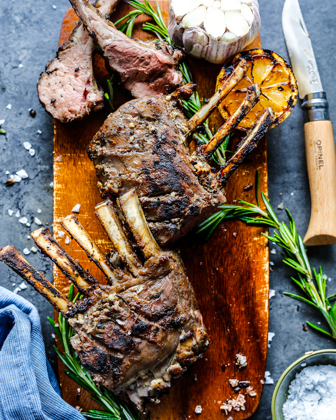 reverse-seared rack of lamb