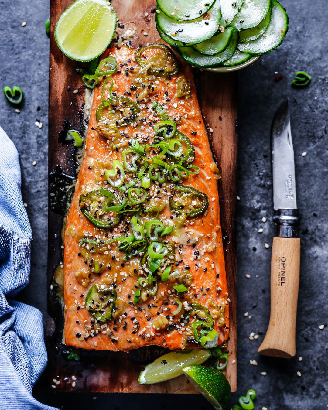 Sesame-Ginger Cedar Plank Salmon