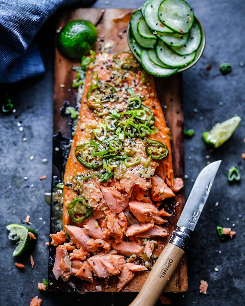 Sesame-Ginger Cedar Plank Salmon Recipe Paleo Primal Easy BBQ Grilling Summertime Ideas