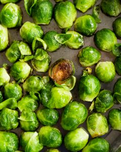 Pan-Roasted Brussels Sprouts Maple Mustard Vinaigrette Paleo Primal Gourmet Whole30 Easy