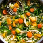 Shredded Chicken Sweet Potato Kale Soup Whole30 Paleo Primal Gourmet Easy Leftovers Thanksgiving Recipe