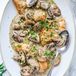 Chicken with Mushroom and Tarragon Cream Sauce