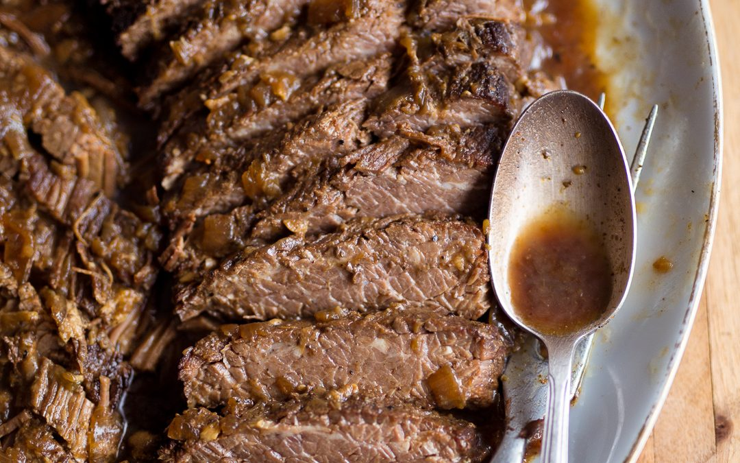 Slow Cooker Brisket and Onions – Whole30, Paleo