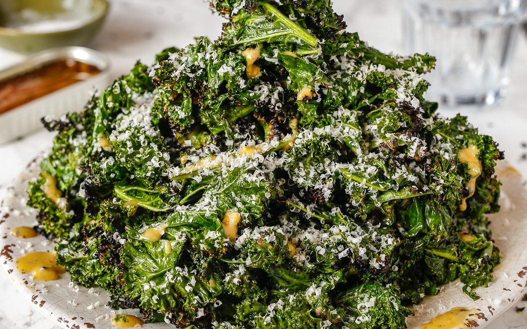 Grilled Kale Caesar
