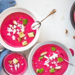 Gluten-Free Salmorejo with Beets