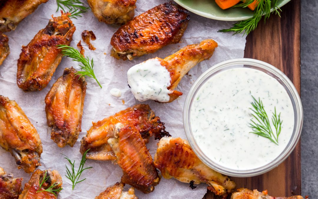 Dill Pickle Wings & Dill Pickle Mayo – Whole30, Paleo