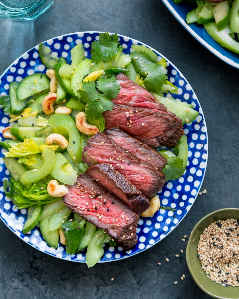 Grilled Short Rib with Celery Salad Whole30 Paleo Easy