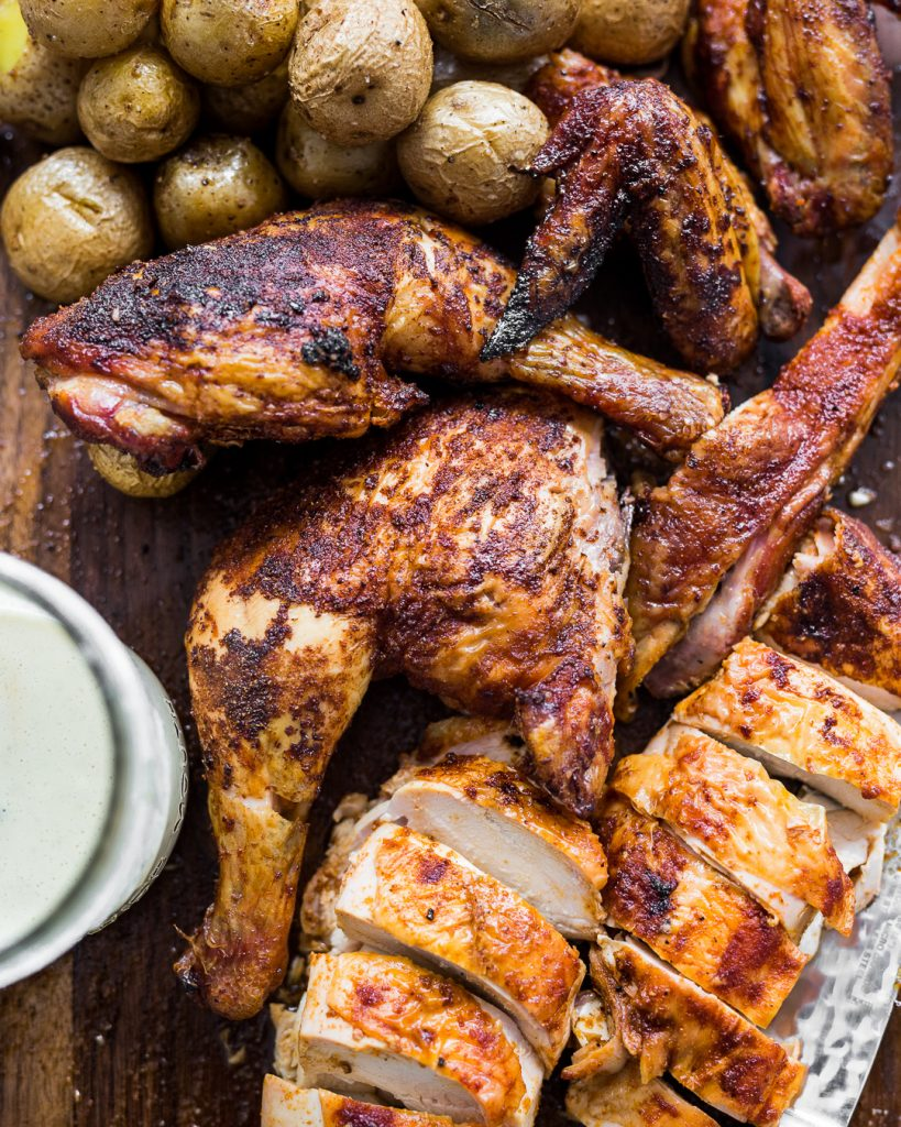 Traeger Smoked Chicken and Potatoes Primal Gourmet Paleo Whole30 Recipes Easy BBQ