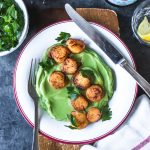 Seared Scallops with Cauliflower & Spinach Purée