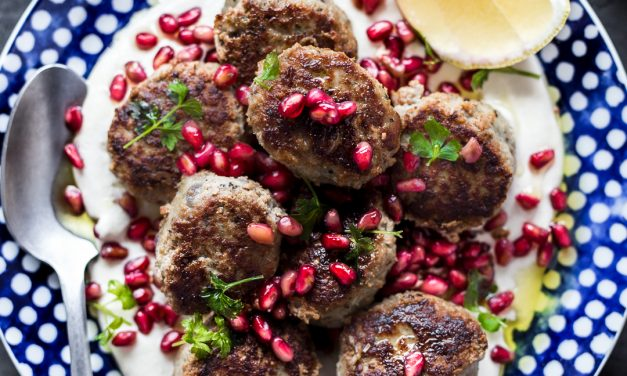 Spiced Meatballs with Tahini and Pomegranate