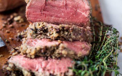 Herb & Almond Crusted Beef Tenderloin