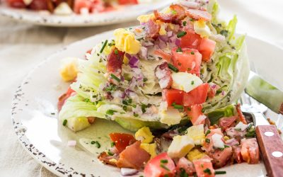 Classic Wedge Salad with Whole30 Ranch Dressing