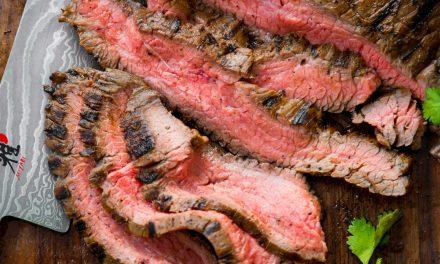 Flank Steak Fajitas – Whole30, Paleo