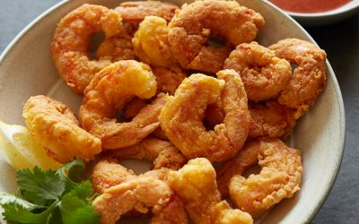 Popcorn Shrimp with Cocktail Sauce – Paleo